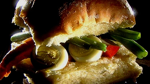 Trish Deseine's Pain Bagnat Salad in a Sandwich
