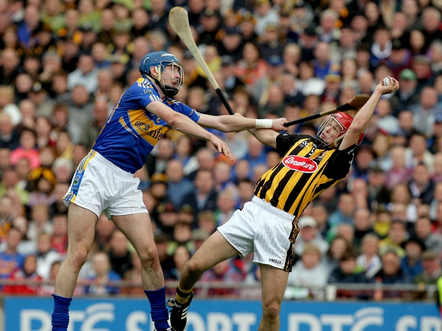 John O'Brien of Tipperary and Tommy Walsh of Kilkenny compete - Walsh was one of Kilkenny's outstanding performers on the day