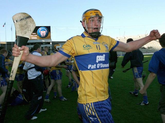 John Conlon celebrates Clare's triumph