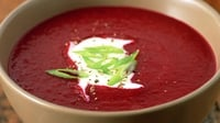 Ukrainian Borscht with Haricot Beans - This soup is traditional in all Eastern European countries. Delicious served with a dollop of crème fraiche and crusty bread.