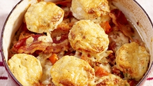 Chicken Casserole with Cheesy Herb Dumplings