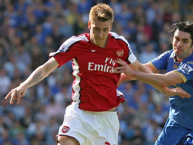 Nicklas Bendtner scored the winner for the Gunners
