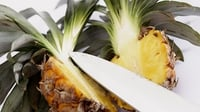 Salted Pineapple - Using salt as a crust for food is intended to preserve as perfectly as possible the original flavour of the food.
