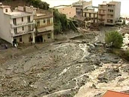 Sicily - Rainstorms washed away floods