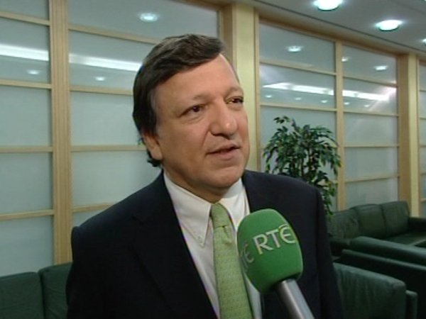 José Manuel Barroso - Held talks with Jan Fischer