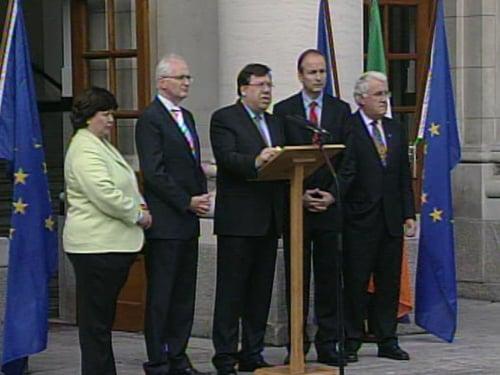 Brian Cowen - 'As a nation have taken a decisive step'
