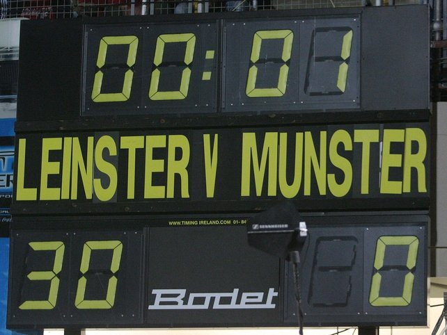 The scoreboard says it all at the final whistle in the RDS