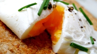 Smoked Trout, Poached Eggs & Hollandaise Sauce - This can also be a very fancy starter and the flavours are perfect together.