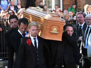 Stephen Gately - Funeral yesterday