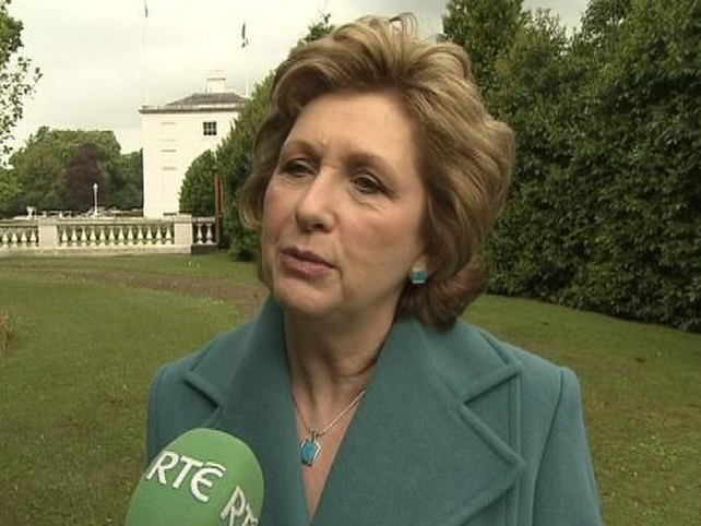 Mary McAleese - Attending conference in Malahide