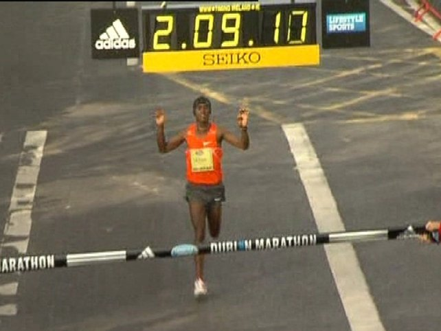 Feyisa Lelisa from Ethiopia won this year's Dublin City Marathon
