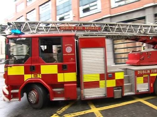 Several units of the Dublin Fire Brigade are attending the scene