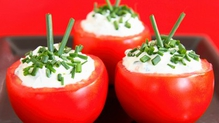 Baked Tomatoes Stuffed with Rice, Pine Nuts and Parmesan Cheese