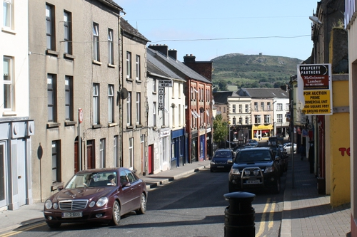 Weafer St., Enniscorthy, looking towards Vinegar Hill and Berlin