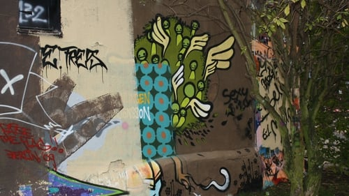 Legal wall, painted over many times at the Tommy Weißbecker Haus, Berlin