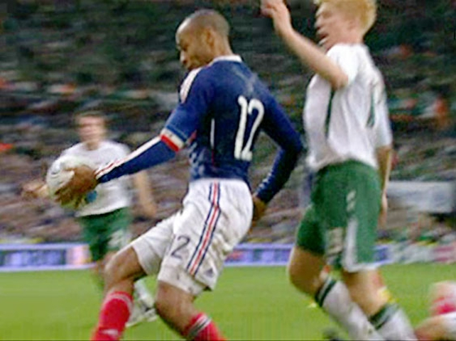 Thierry Henry's handball put France ahead in extra-time