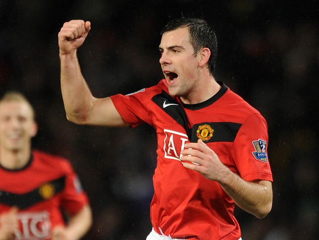 Darron Gibson and Manchester United will play the first soccer match at the new Aviva Stadium