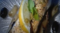 Seabass with Fennel and Garlic - Pretty well everywhere these days a nice fresh sea bass is easily found.