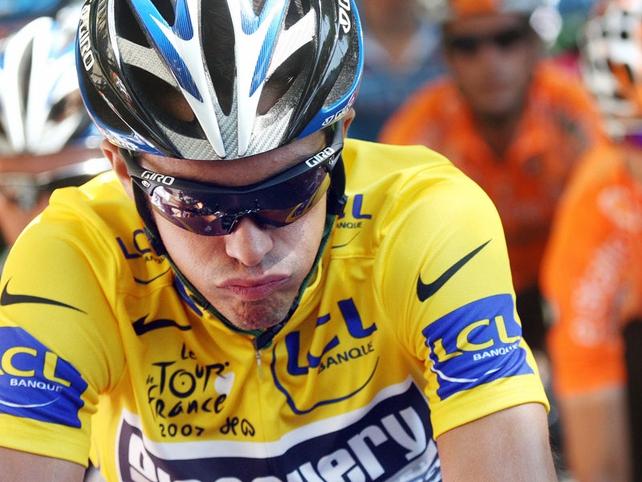Alberto Contador found the going tough at the Criterium International