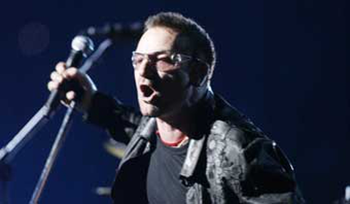 Áine talks to Bono