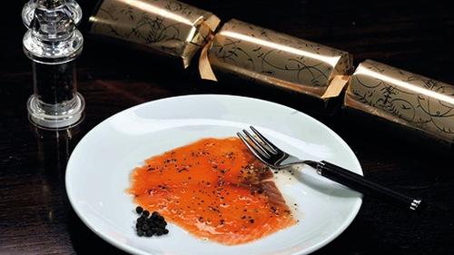Richard Corrigan's Smoked Salmon with Black Pepper and Honey
