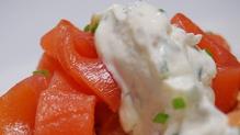 Smoked Irish Salmon Blini with a Lemon and Caper Crème Fraiche