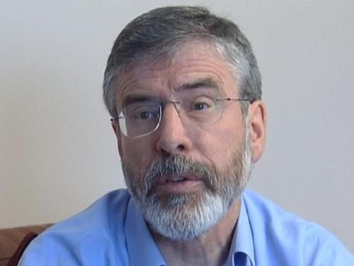 Gerry Adams - Threat by loyalist group