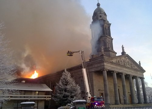 St Mel's Cathedral  - Fire