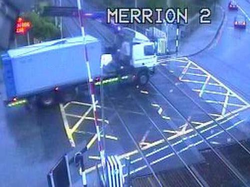 DART - CCTV footage captures collision - (Pic: Iarnród Éireann)