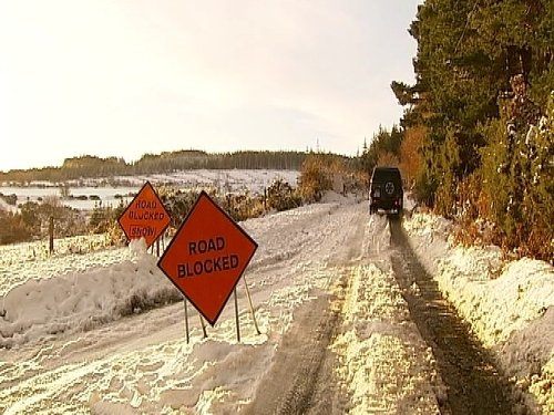 Caution urged - Secondary routes are icy