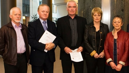 The Farrens and Jim Higgins MEP at the European Parliament in Brussels