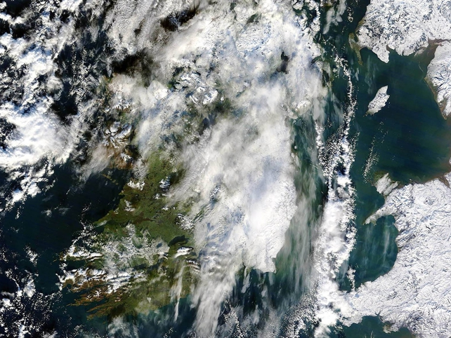 Ireland - Satellite image taken 7 January
