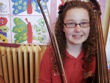 Aisling Greenhalgh, double bass, 6th class, St Agnes