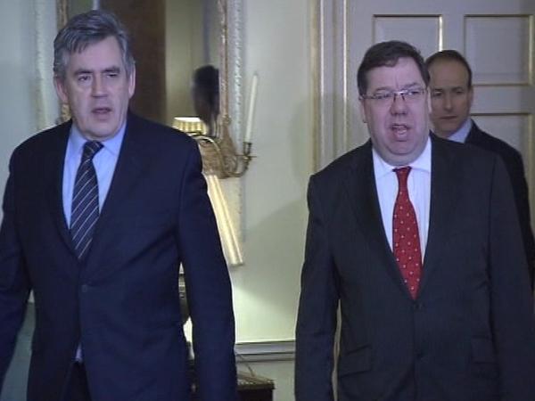 Brown & Cowen - Talks on devolution