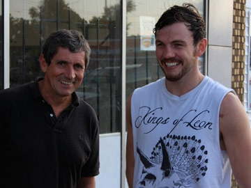 Charlie meets Andy Lee, Limerick boxer in Detroit