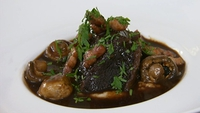 Braised Beef Cheek with Smoked Bacon - A delicious main from Neven Maguire. Serve with  baby mushrooms and celeriac mash.