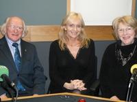 Michael D Higgins, Miriam O'Callaghan and Sabina Coyne