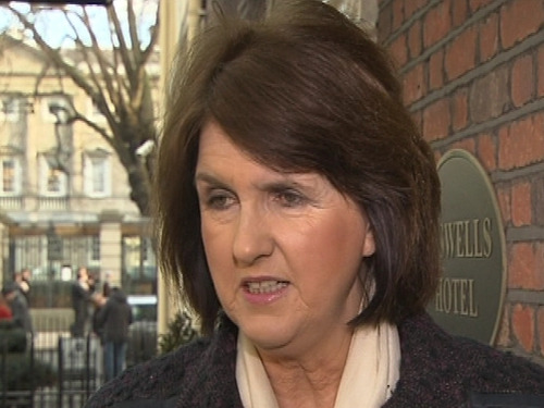 Joan Burton - Criticised the Government's bank strategy