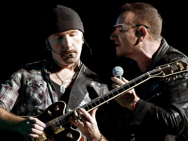 The Edge & Bono - Took part in global appeal for help