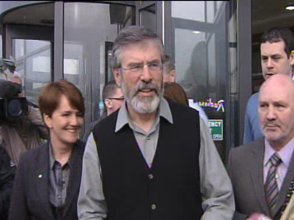 Gerry Adams - Called on DUP to change stance to power-sharing