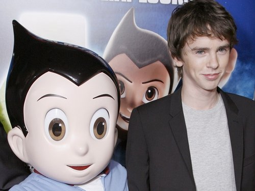 Highmore and his new movie character Astro Boy