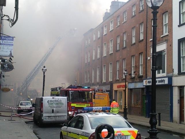 Capel Street - Fire at head shop