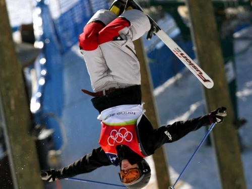 Jennifer Heil failed to break the Canadian gold medal hoodoo on home turf