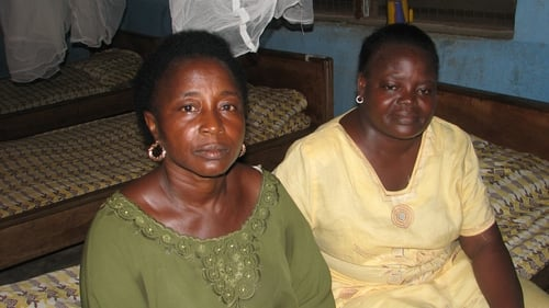 Health aide Josephine and midwife Alice in a rural clinic in Kenema, Sierra Leone