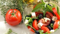Broccoli, Feta and Cherry Tomato Salad - Serve as a tasty side dish or a really tasty lunch.