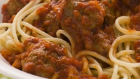 Arabiata Pasta with Spiced Meat Balls - A healthy and tasty kids option that the adults will love too!