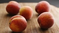 Amaretti Grilled Peaches - Italian Amaretti biscuits are delicious crumbled onto soft fruit. Of course, you can use nectarines for this recipe or even drained canned peaches if there are none in season. Buy the ones in natural fruit juice as they aren't too sweet.