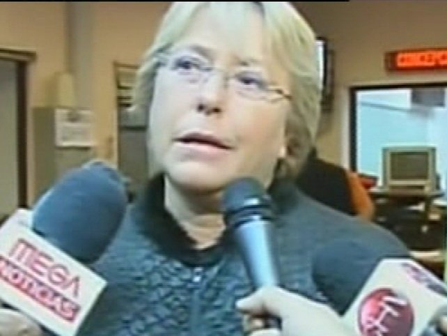 President Michelle Bachelet - Urged public to stay calm