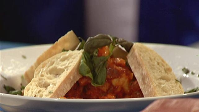 Conchigliette all'Arrabiatta with Pancetta and Chorizo