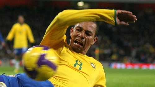 Gilberto won the World Cup in 2002 with Brazil